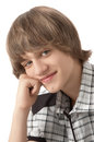 Portrait of Smiling Teenage Boy Royalty Free Stock Photos