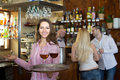 Portrait of smiling waitress Royalty Free Stock Photo