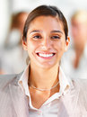 Portrait of a smiling young businesswoman Royalty Free Stock Images