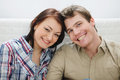 Portrait of smiling young couple Stock Images