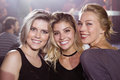 Portrait of smiling young female friends Royalty Free Stock Photo