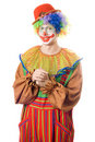 Portrait of a smirking clown Royalty Free Stock Images