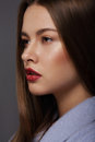 Portrait of sophisticated and luxurious supermodel with perfect skin Royalty Free Stock Images