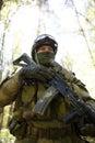 Portrait of special forces soldier