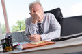 Portrait of stressed businessman Royalty Free Stock Photo