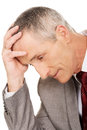 Portrait of stressed and tired businessman Royalty Free Stock Photo
