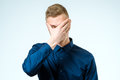 Portrait of stressed young man Royalty Free Stock Photo