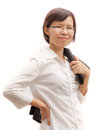 Portrait of success businesswoman for background Stock Photography