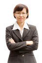 Portrait of success businesswoman for background Royalty Free Stock Photography