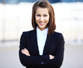 Portrait of a successful business woman smiling Royalty Free Stock Photo