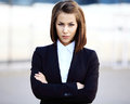 Portrait of a successful business woman smiling. Royalty Free Stock Photo