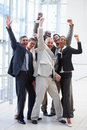 Portrait of sucessful delighted business people Stock Photography