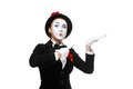 Portrait of the surprised mime Royalty Free Stock Photo