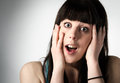 Portrait of a surprised or shocked woman Royalty Free Stock Image