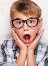 Portrait of surprised young boy. Royalty Free Stock Photo