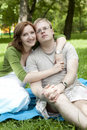 Portrait of a sweet couple in love. Royalty Free Stock Photos