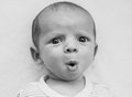 Portrait of sweet surprised baby boy Royalty Free Stock Photo