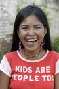 Portrait of teen indian girl with radiant face bolivia she is a prostitute child labor and belongs to the ayoredo tribe that is Royalty Free Stock Photo
