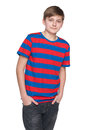 Portrait of a teenager boy Royalty Free Stock Photo