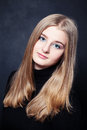 Portrait of Teenager Girl with Long Blonde Hair Royalty Free Stock Photo