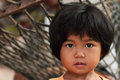 Portrait of thai little girl Stock Image