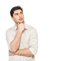 Portrait of the thinking man  in casuals Royalty Free Stock Image