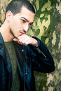 Portrait of thinking young man Royalty Free Stock Photo