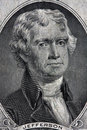Portrait of Thomas Jefferson Stock Photo