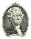 Portrait of Thomas Jefferson Royalty Free Stock Photo