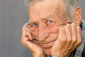 Portrait of a thoughtful elderly man Royalty Free Stock Photo