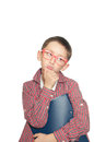 Portrait of a thoughtful young boy with book Royalty Free Stock Photo