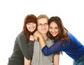 Portrait of three teens Royalty Free Stock Photo