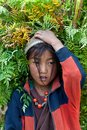 Portrait of Tibetan girl Royalty Free Stock Photography
