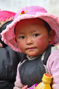 Portrait of a tibetan kid 2 Royalty Free Stock Images