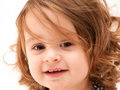 Portrait of Toddler Smiling Stock Image
