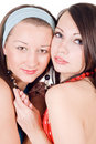 Portrait of two beauty young women Royalty Free Stock Photography