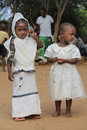 Portrait of the two ethiopian girls. Royalty Free Stock Photo