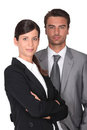 Portrait of two executives Royalty Free Stock Photo