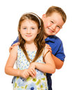Portrait of two happy children Royalty Free Stock Photo