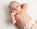 Portrait of two-month old baby boy Royalty Free Stock Images