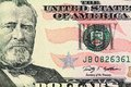Portrait of ulysses s grant macro shot a dollar as depicted on the bill Stock Images