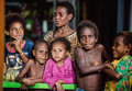 Portrait of unidentified  Papuan kids. Royalty Free Stock Photo