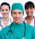 Portrait of a united medical team Royalty Free Stock Photo