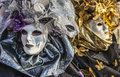 Portrait of a venetian mask venice italy february th person in traditional during the venice carnival days Stock Photos