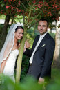 Portrait of wedding couple Royalty Free Stock Photography