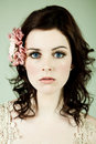 Portrait of a Wide-Eyed Young Woman Royalty Free Stock Photo