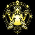 Portrait of the winged goddess Ishtar.