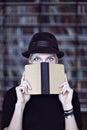 Portrait Of Woman In Black Hat...