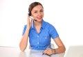 Portrait Of Woman Customer Ser...