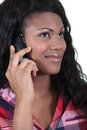 Portrait of a woman on phone Royalty Free Stock Photo